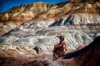 """Painted Hills"", Wyoming, cowboy, ""fine art photography"", rope, ""Ropin the Painted Hills"""