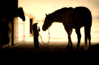"""listen to me"", child, children, ""fine art photography"", girl, horse, ""limited edition giclee print"", ""listen to me"", silhouette, western, ""western art"", ""western photography"""